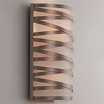 Shown With Glass Shade, Flat Bronze finish, Small
