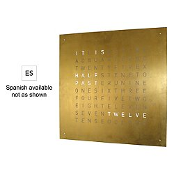 QLOCKTWO Creator's Edition Gold Wall Clock (Spanish)-OPEN BOX