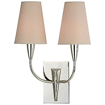 Shown in Cream shade, Polished Nickel finish