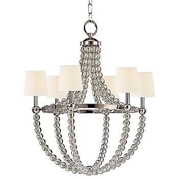 Shown in Polished Nickel finish, White shade
