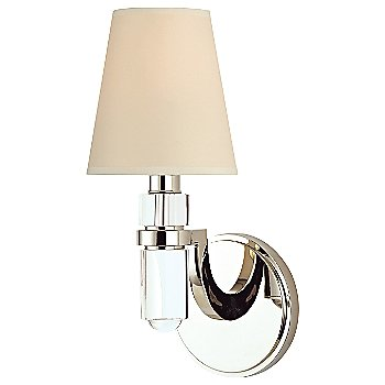 Shown in Cream paper shade, Polished Nickel finish