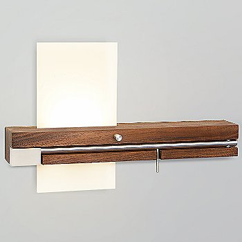 Levo LED Sconce with USB Charger, in use