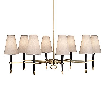 Shown in Ebony Wood with Antique Brass finish