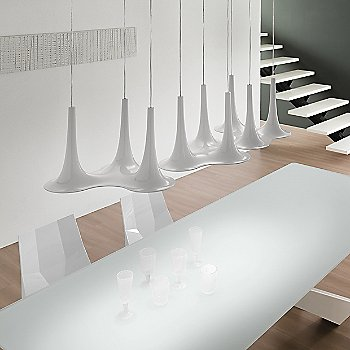 Shown in White and White finish, group of 3