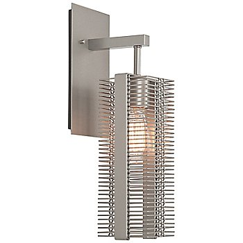 Shown in Metallic Beige Silver finish, Frosted Glass