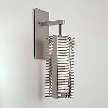 Shown in Metallic Beige Silver finish, Exposed lamping