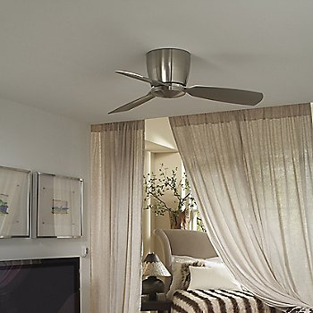 Shown in Brushed Nickel finish with Brushed Nickel blades, Light Kit 44