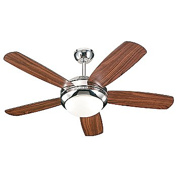 Shown in Polished Nickel finish with American Walnut blades