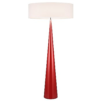 Shown in Gloss Red finish, Off-White Linen shade