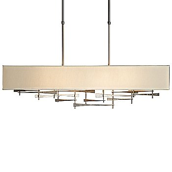 Shown in Burnished Steel finish, Natural Anna shade