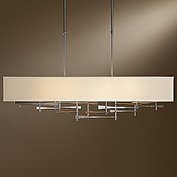 Shown in Burnished Steel finish, Doeskin Micro-Suede shade