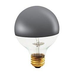 60W 120V G25 E26 Half Chrome Bulb
