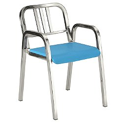 Nine-0 Stacking Armchair - 3-Bar Back