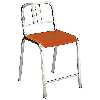 Orange / Polished Aluminum finish