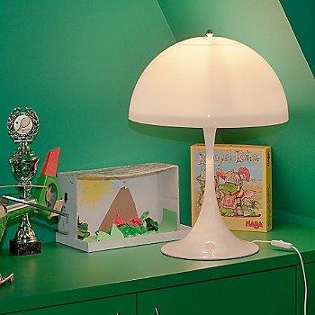 In use in bedroom, illuminated