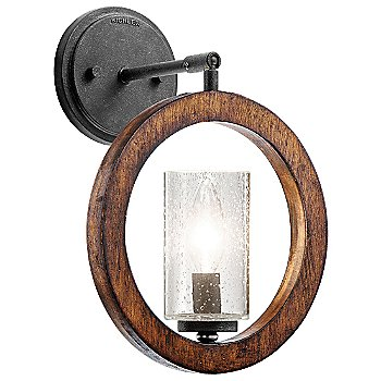 Shown in Auburn Stained finish as Wall Sconce