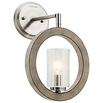 Shown in Distressed Antique Gray finish as Wall Sconce
