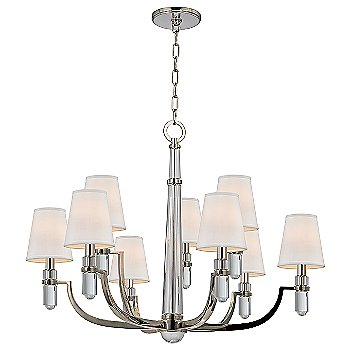 Shiown in Polished Nickel finish, Cream shade