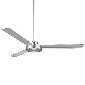 Brushed Aluminum with Silver Fan Body and Blade Finish