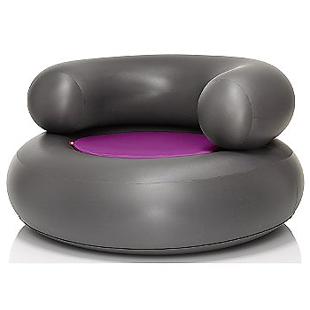 Shown in Anthracite, Pink pillow