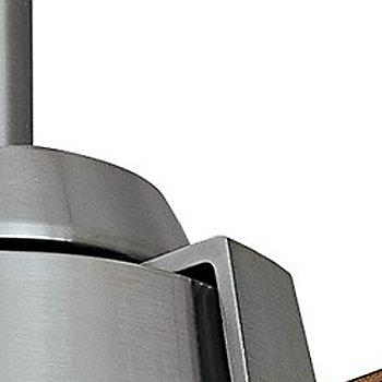 Walnut blades / Brushed Nickel finish