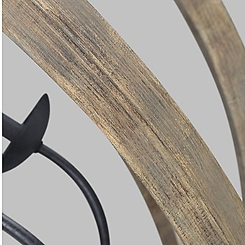 Weathered Oak Wood with Antique Forged Iron finish, detail