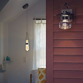 Mason Outdoor Wall Sconce, in use