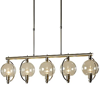 Shown in Burnished Steel finish, Clear shade