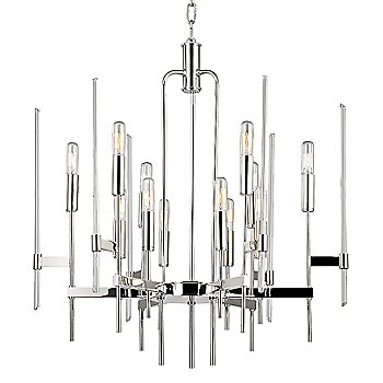 Shown in Polished Nickel finish, 12-Light option