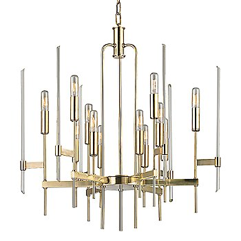 Shown in Aged Brass finish, 12-Light option