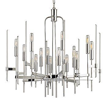 Shown in Polished Nickel finish, 16-Light option