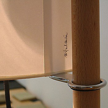 Shown in Beech Finish with White shade with Signature of Designer