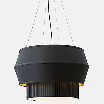 Shown in Black with Gold shade