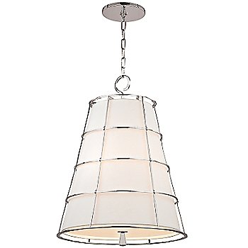 Shown in Polished Nickel finish, Large size