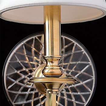 Aged Brass with Crystal Accents finish