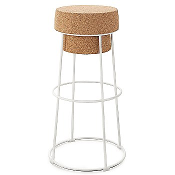 White finish / Bar Stool