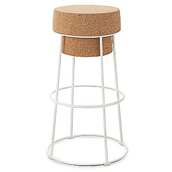 White finish / Counter Stool