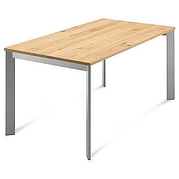 Satinated Aluminum frame / Light Oak top
