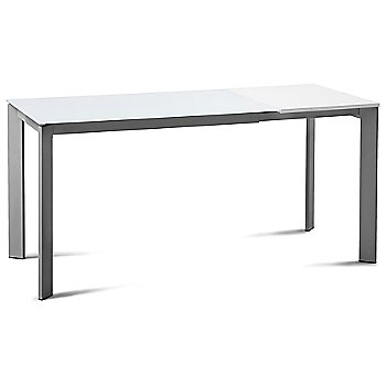 Satinated Aluminum frame / Extra White Glass top