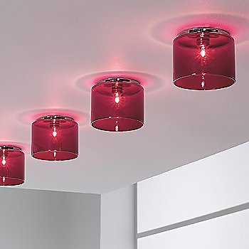 A mutliples installation of Spillrays in Red