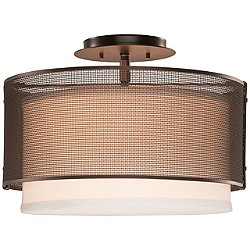 Uptown Mesh Semi Flush Mount Ceiling Light