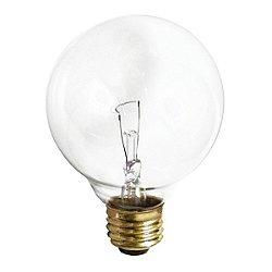 40W 120V G25 E26 Clear Bulb