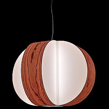 Carambola Pendant, in use, illuminated
